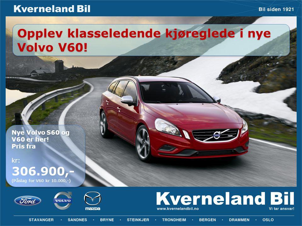 Opplev klasseledende kjøreglede i nye Volvo V60!