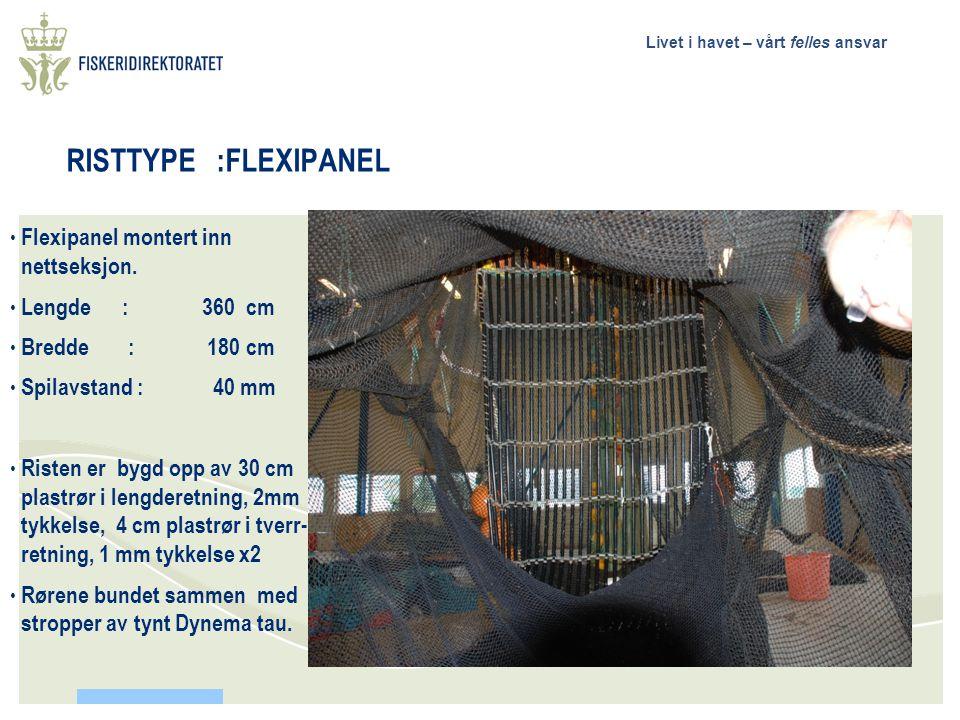 RISTTYPE :FLEXIPANEL Flexipanel montert inn nettseksjon.