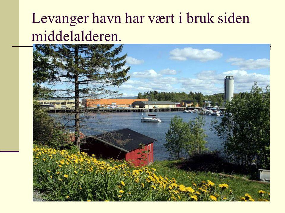 Levanger havn har vært i bruk siden middelalderen.