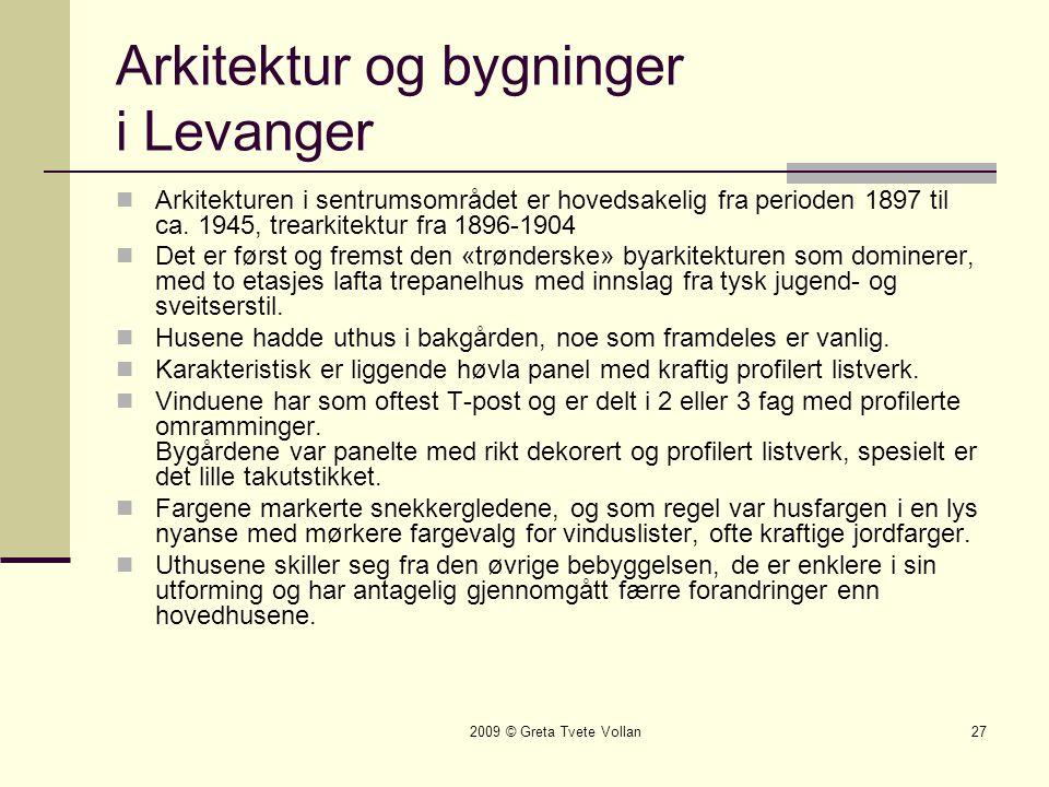 Arkitektur og bygninger i Levanger