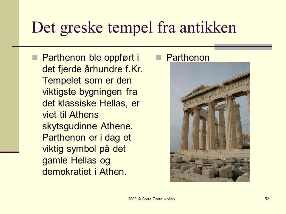 Det greske tempel fra antikken