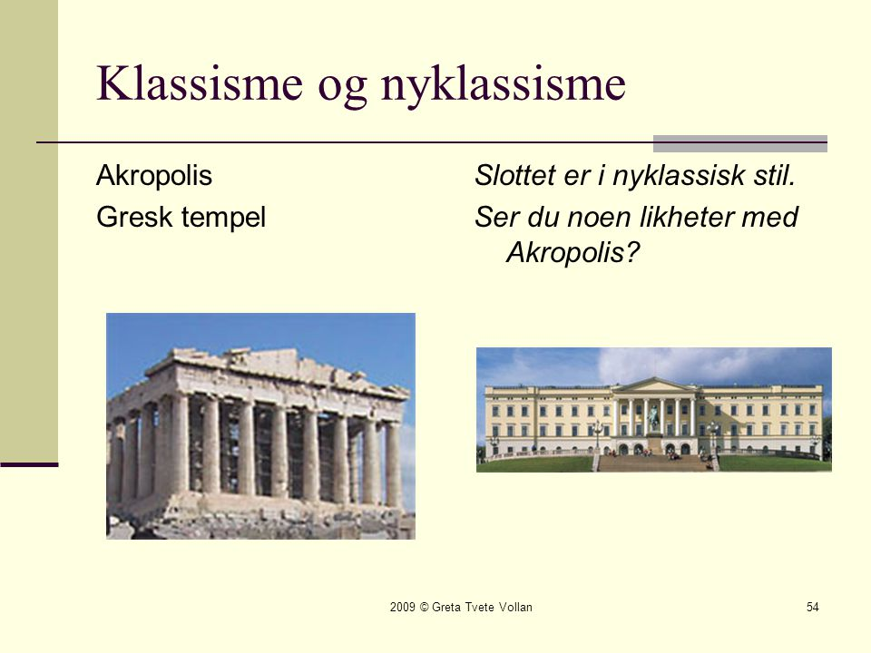 Klassisme og nyklassisme