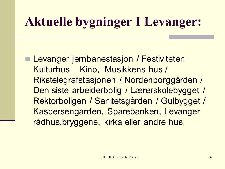 Aktuelle bygninger I Levanger: