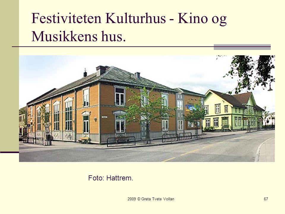 Festiviteten Kulturhus - Kino og Musikkens hus.