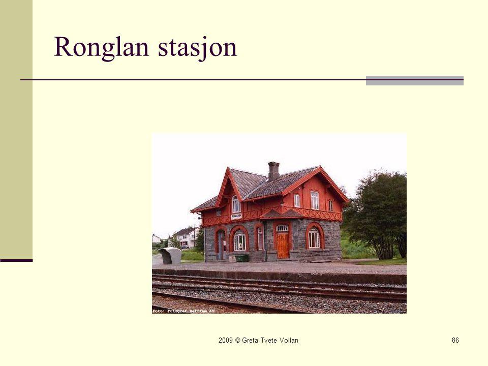 Ronglan stasjon 2009 © Greta Tvete Vollan