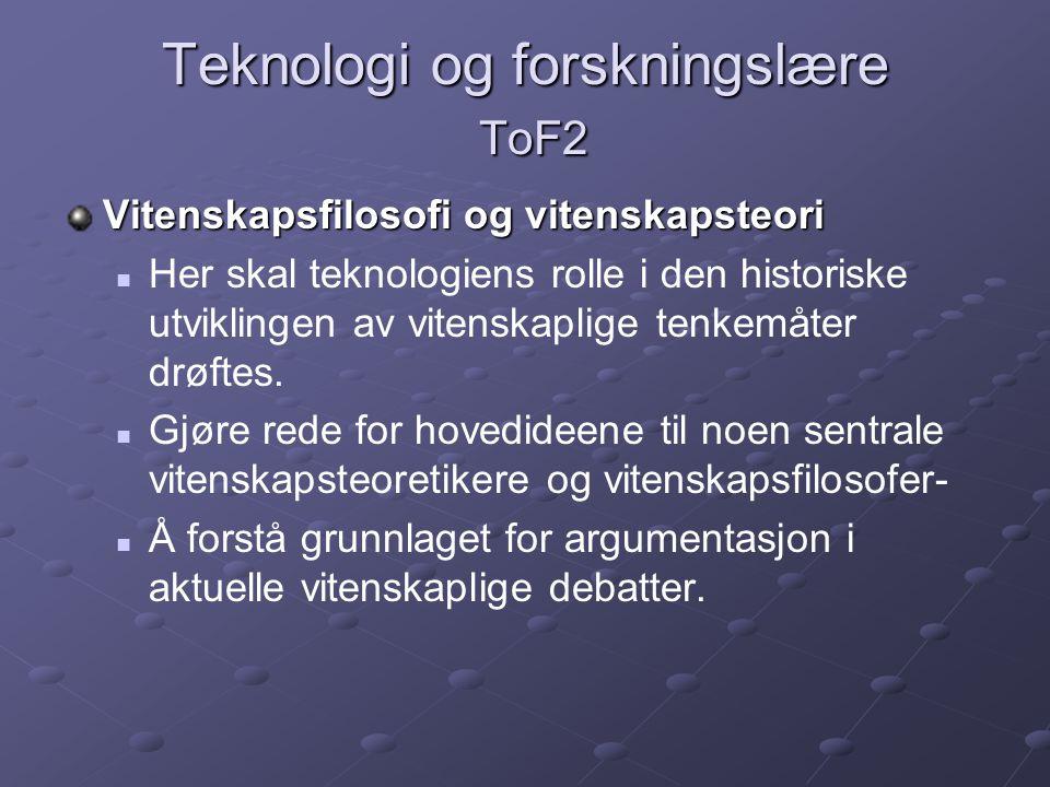 Teknologi og forskningslære ToF2