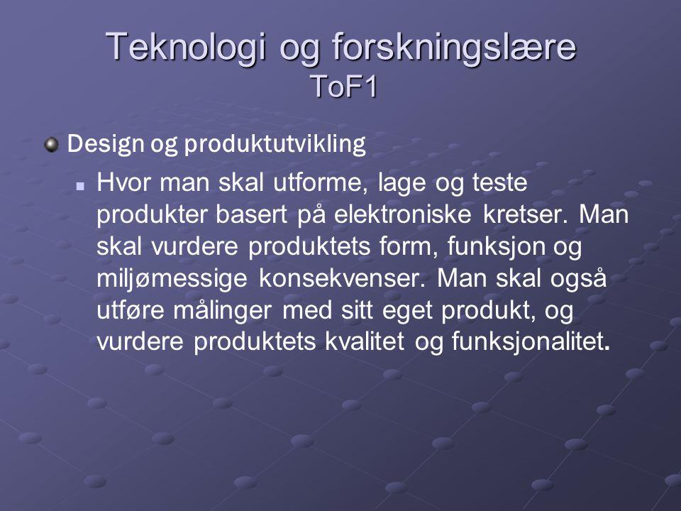 Teknologi og forskningslære ToF1