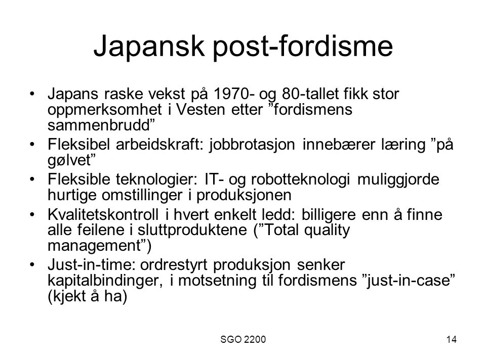 Japansk post-fordisme