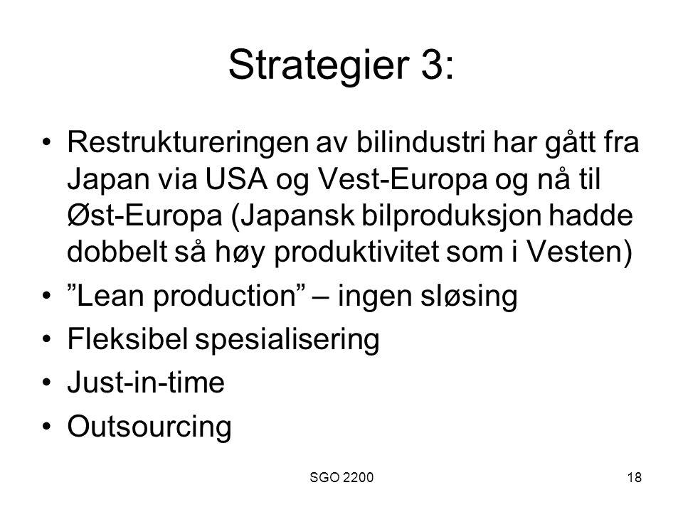 Strategier 3: