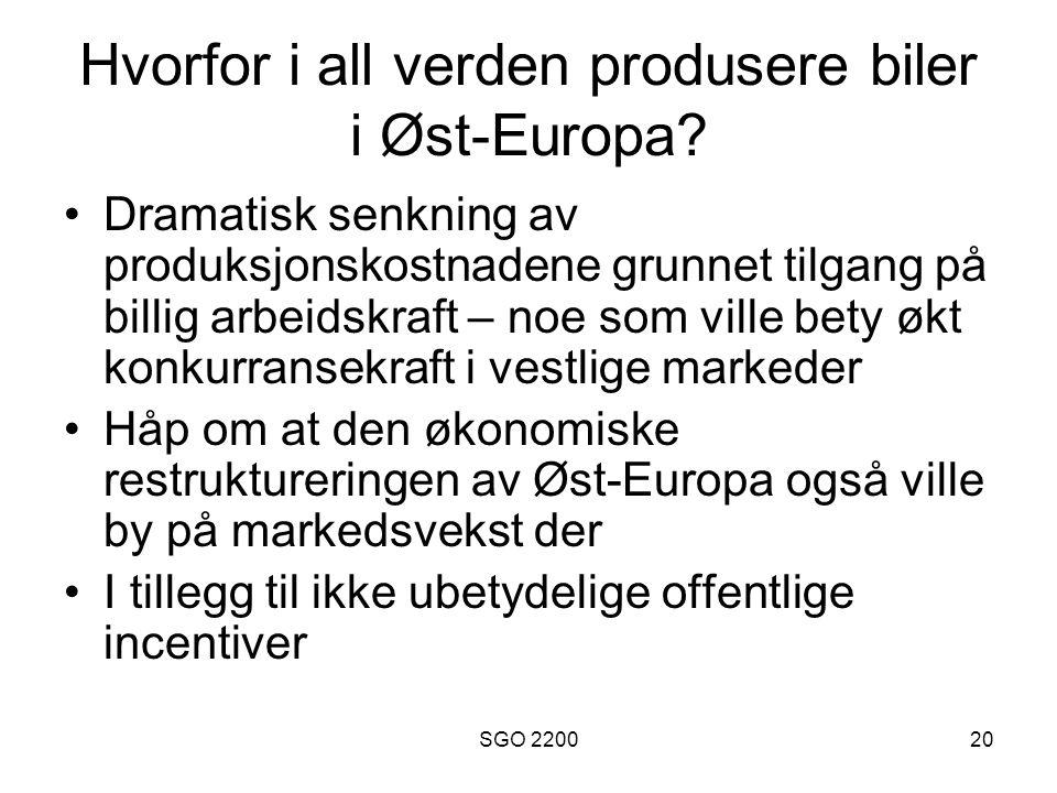 Hvorfor i all verden produsere biler i Øst-Europa