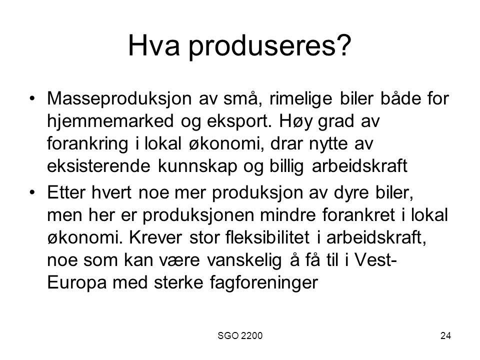 Hva produseres