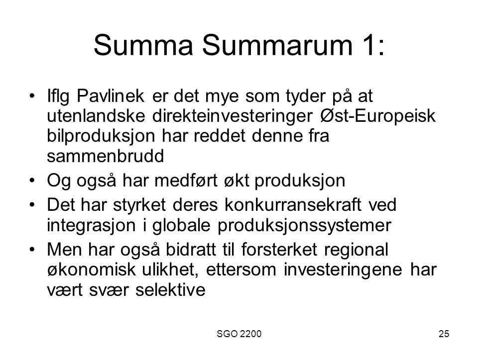 Summa Summarum 1: