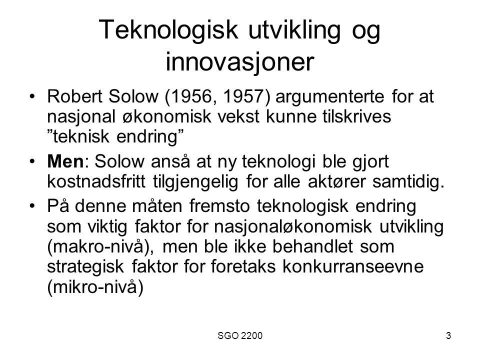 Teknologisk utvikling og innovasjoner