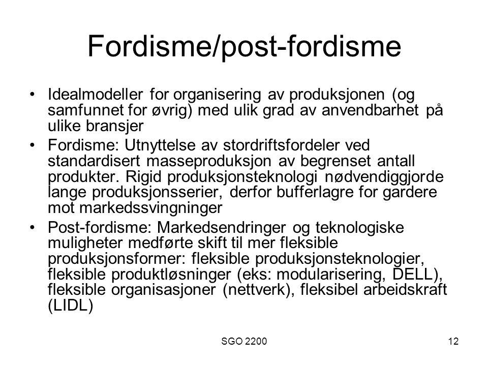 Fordisme/post-fordisme
