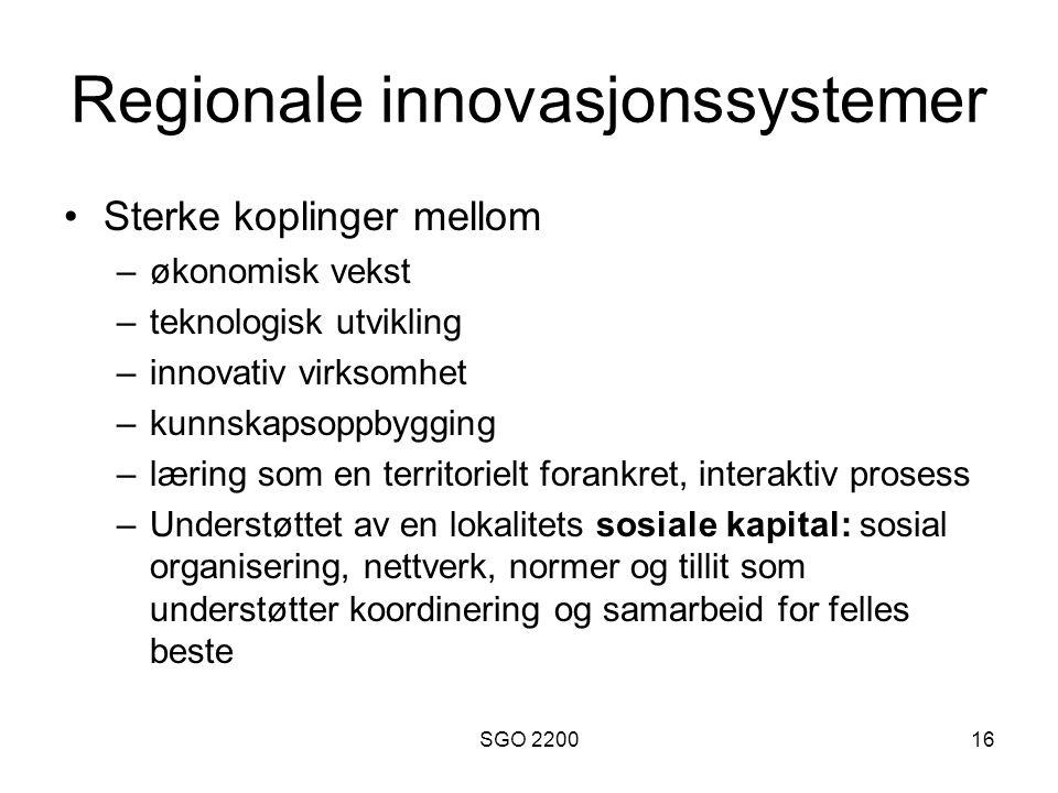 Regionale innovasjonssystemer