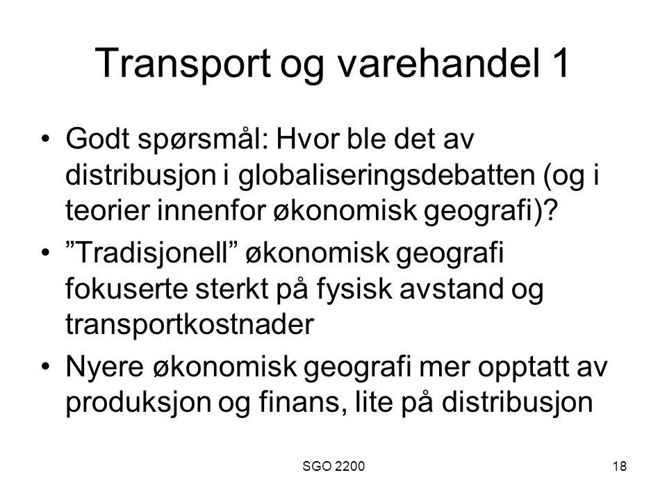Transport og varehandel 1