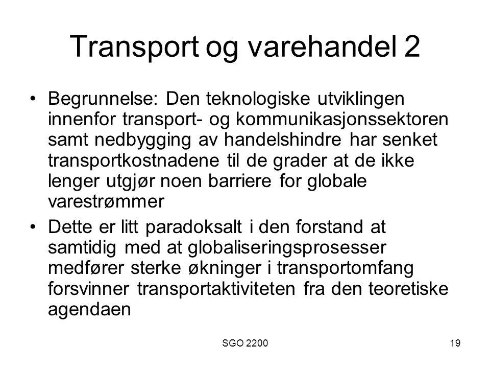 Transport og varehandel 2