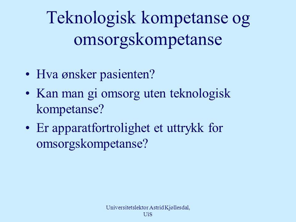 Teknologisk kompetanse og omsorgskompetanse
