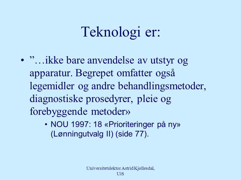Universitetslektor Astrid Kjøllesdal, UiS