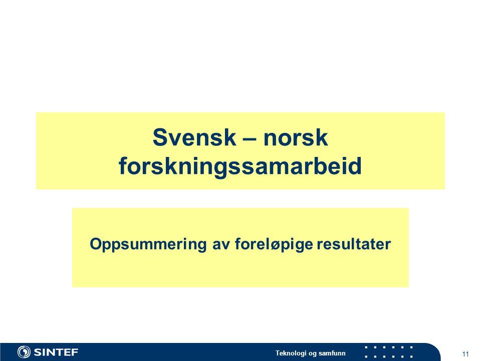 Svensk – norsk forskningssamarbeid