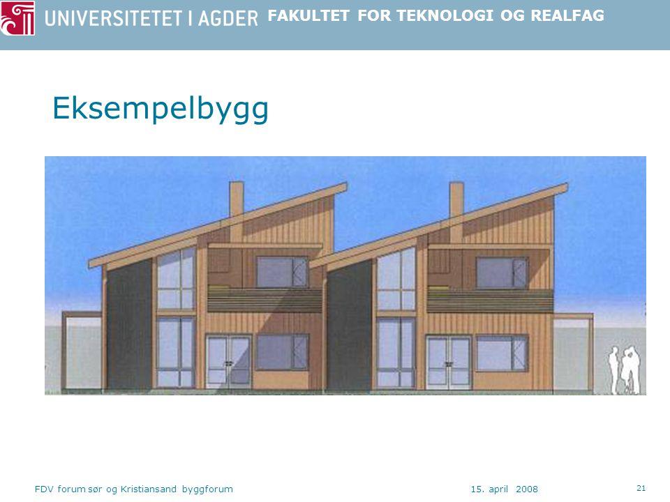 Eksempelbygg FDV forum sør og Kristiansand byggforum 15. april 2008