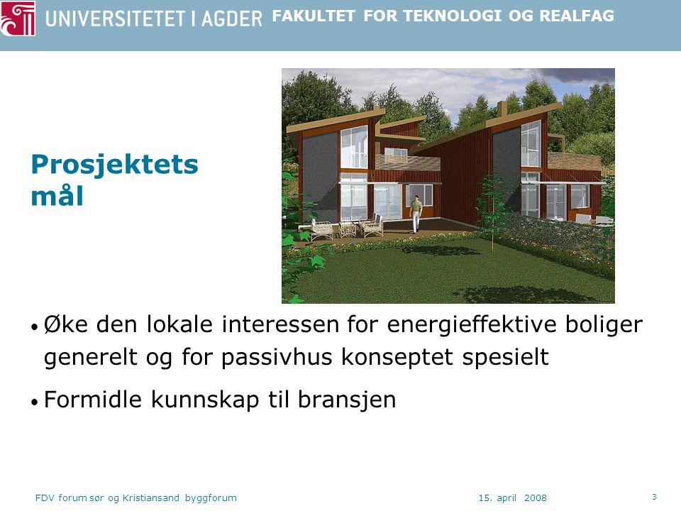 Prosjektets mål Øke den lokale interessen for energieffektive boliger generelt og for passivhus konseptet spesielt.
