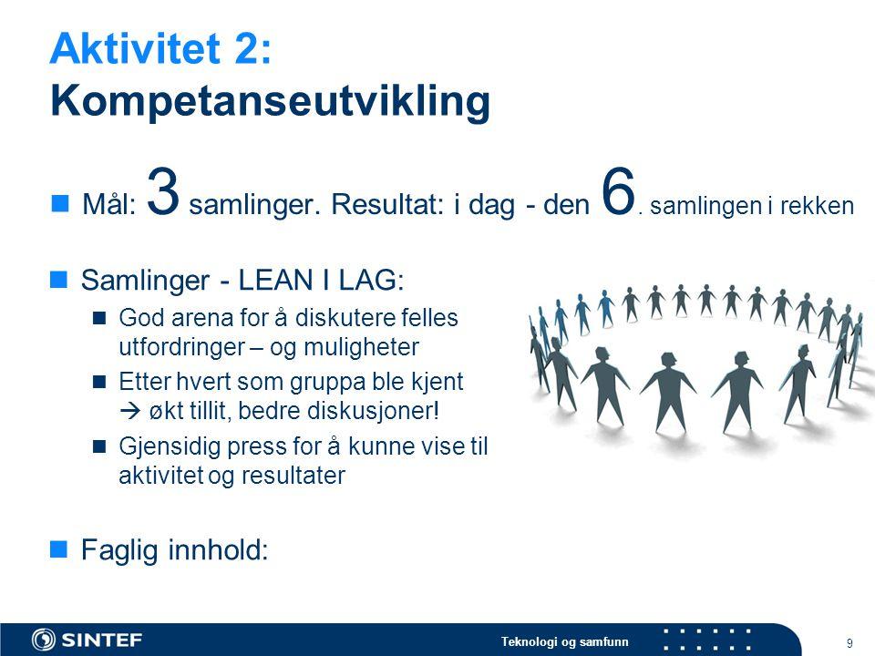 Aktivitet 2: Kompetanseutvikling