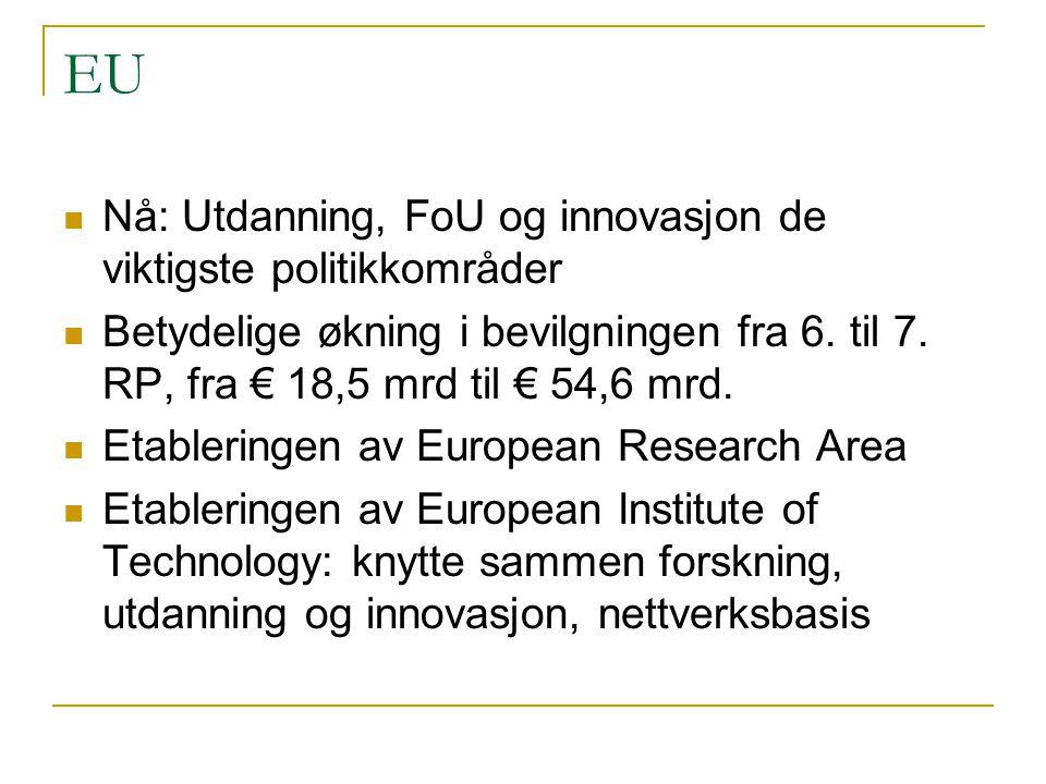 EU Nå: Utdanning, FoU og innovasjon de viktigste politikkområder