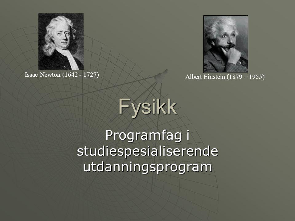 Programfag i studiespesialiserende utdanningsprogram