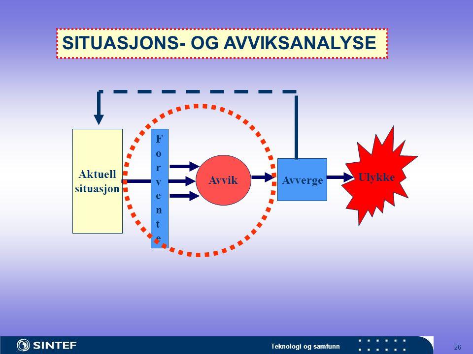 SITUASJONS- OG AVVIKSANALYSE