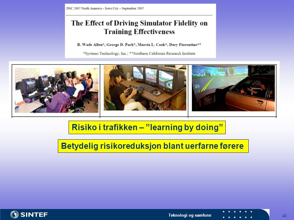 Risiko i trafikken – learning by doing