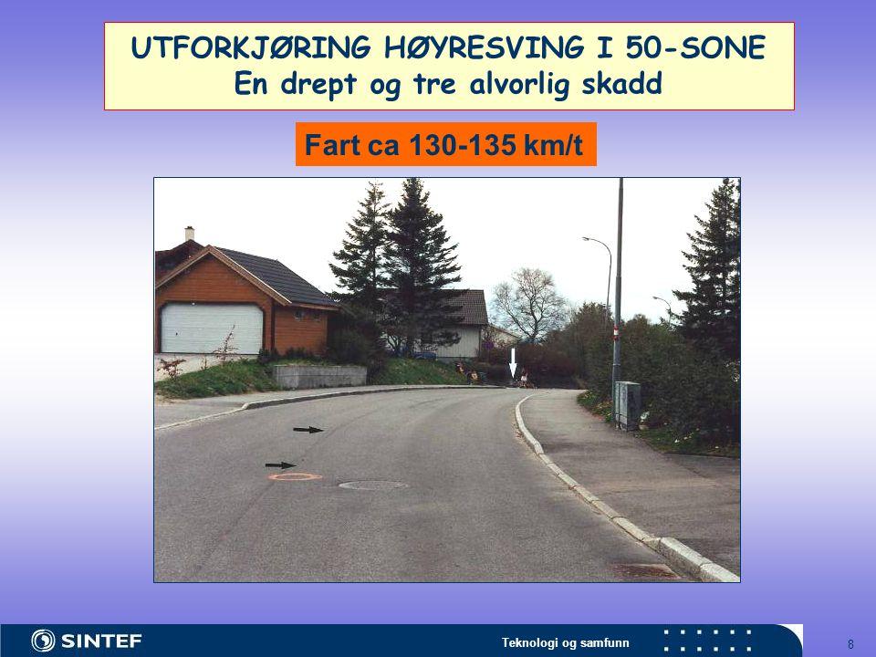 UTFORKJØRING HØYRESVING I 50-SONE En drept og tre alvorlig skadd