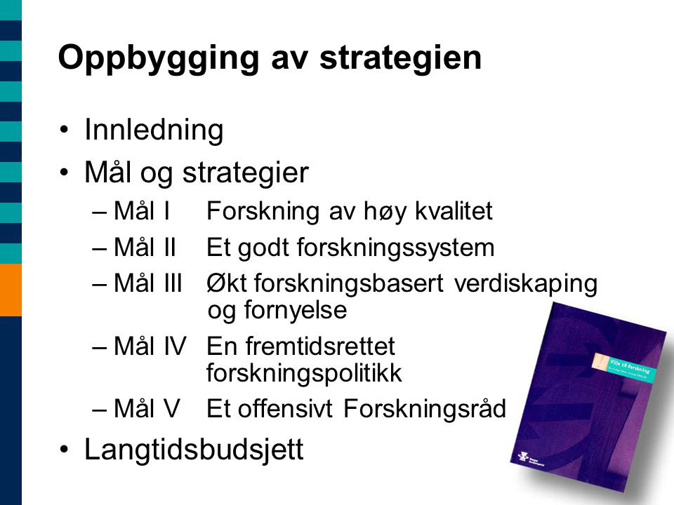 Oppbygging av strategien