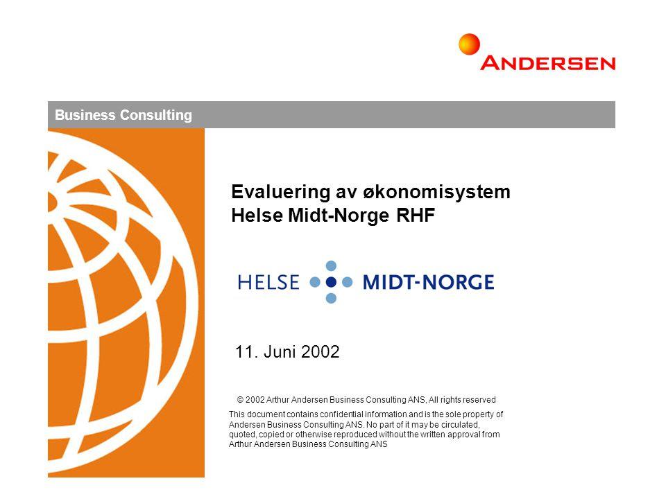 Evaluering av økonomisystem Helse Midt-Norge RHF
