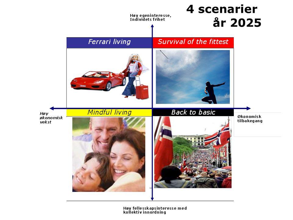 4 scenarier år 2025
