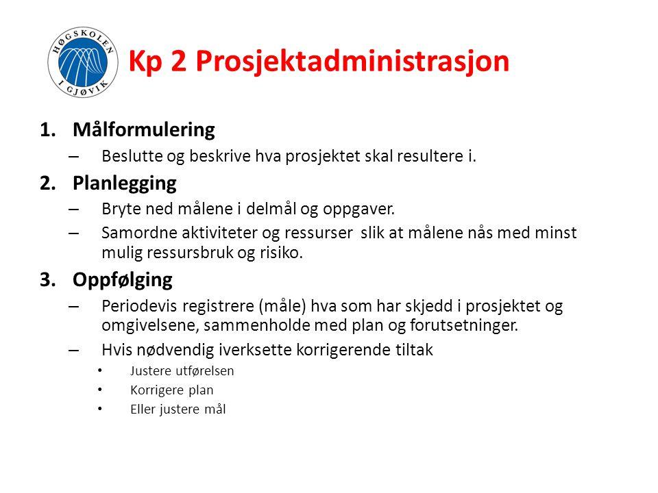 Kp 2 Prosjektadministrasjon