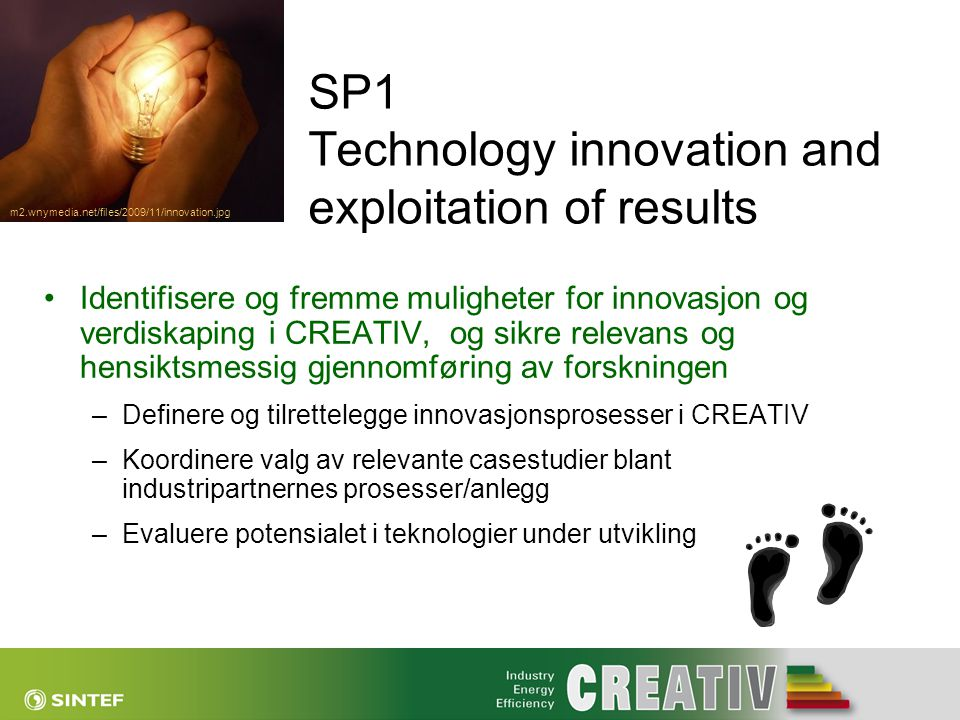 SP1 Technology innovation and exploitation of results