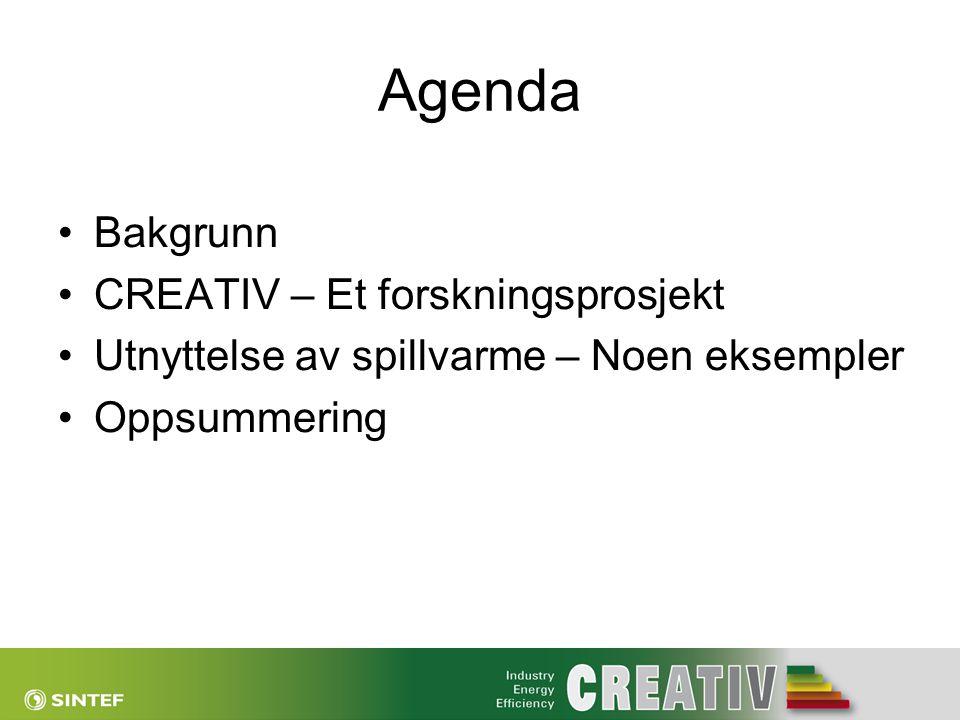Agenda Bakgrunn CREATIV – Et forskningsprosjekt