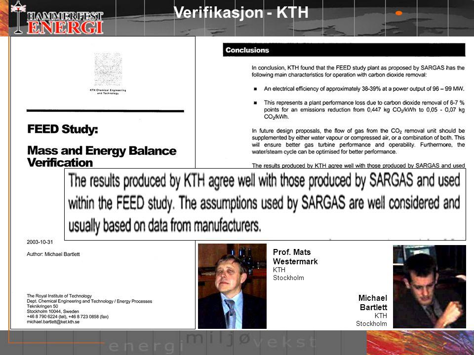 Verifikasjon - KTH Prof. Mats Westermark Michael Bartlett KTH