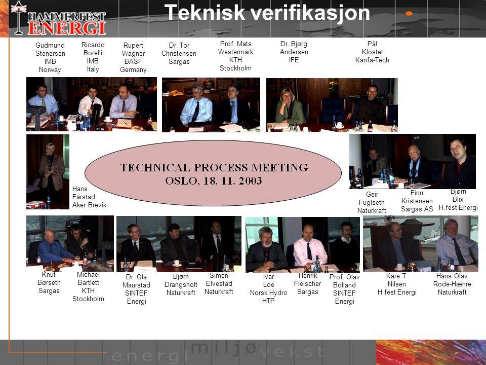 Teknisk verifikasjon Gudmund Stenersen IMB Norway Ricardo Borelli IMB
