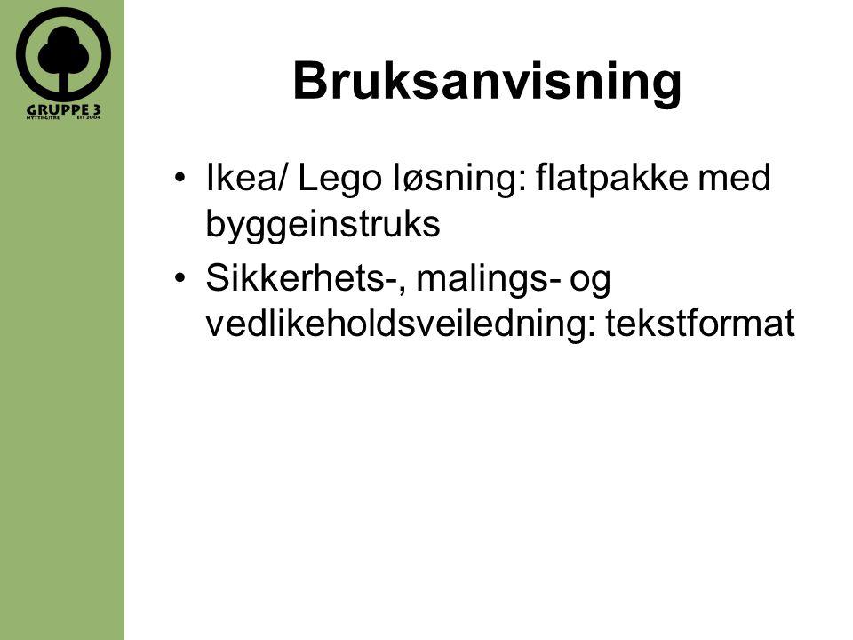 Bruksanvisning Ikea/ Lego løsning: flatpakke med byggeinstruks