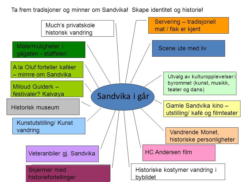 Ta frem tradisjoner og minner om Sandvika! Skape identitet og historie!