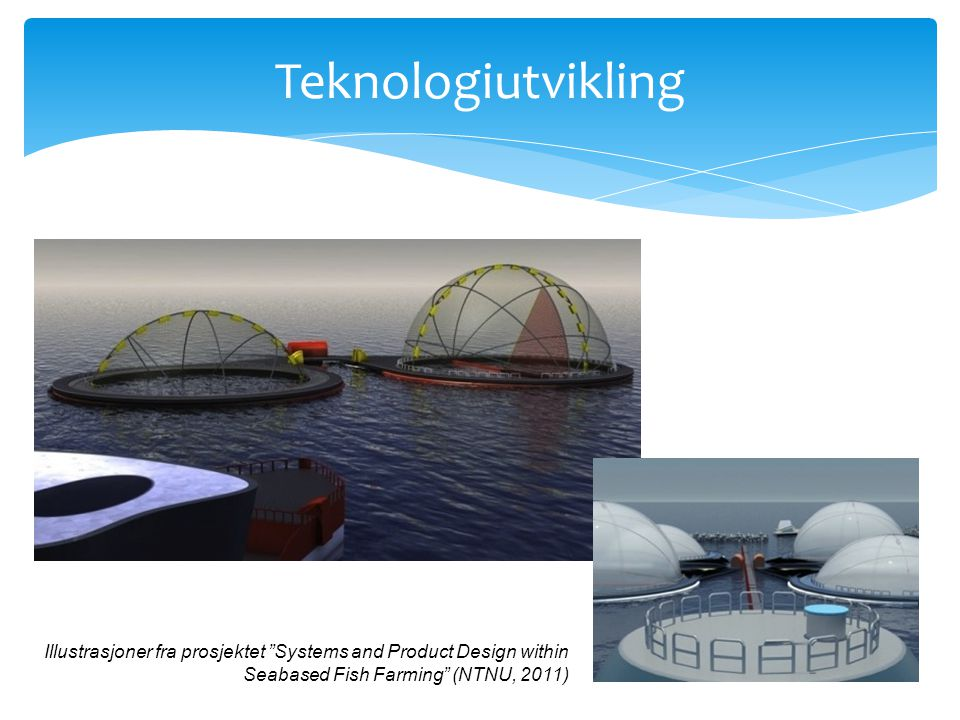 Teknologiutvikling Illustrasjoner fra prosjektet Systems and Product Design within Seabased Fish Farming (NTNU, 2011)