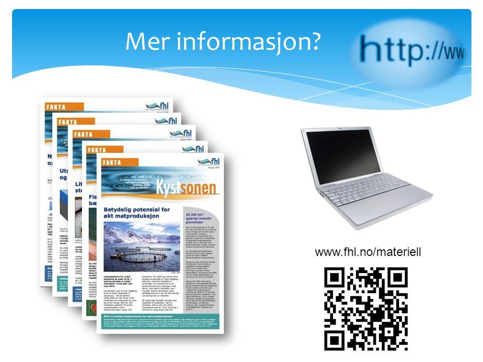 Mer informasjon www.fhl.no/materiell