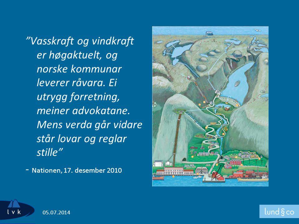Vasskraft og vindkraft er høgaktuelt, og norske kommunar leverer råvara. Ei utrygg forretning, meiner advokatane. Mens verda går vidare står lovar og reglar stille - Nationen, 17. desember 2010