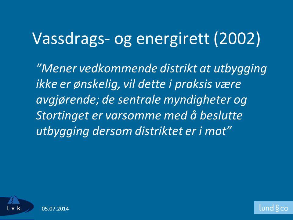 Vassdrags- og energirett (2002)