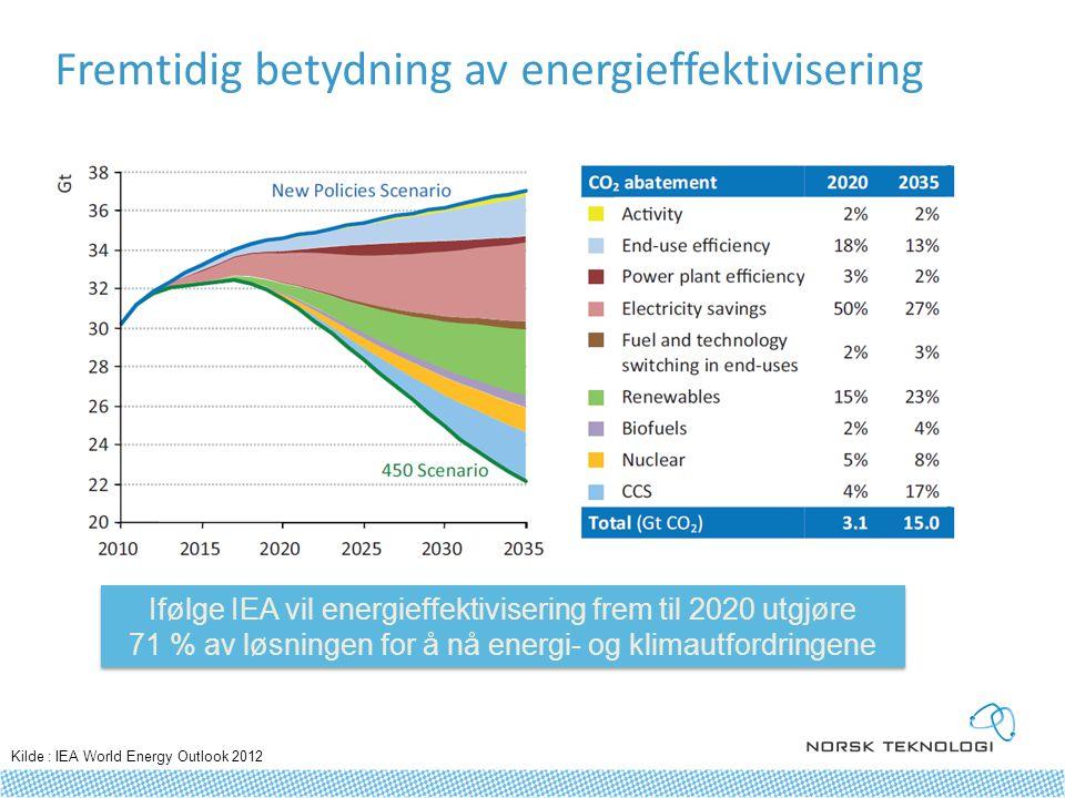 Fremtidig betydning av energieffektivisering