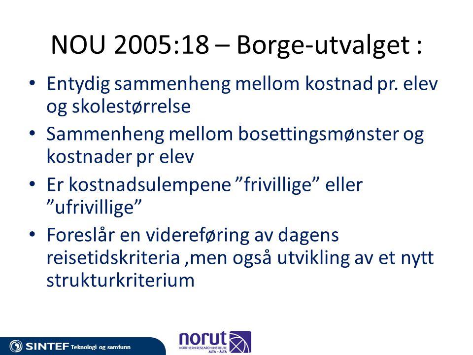 NOU 2005:18 – Borge-utvalget :