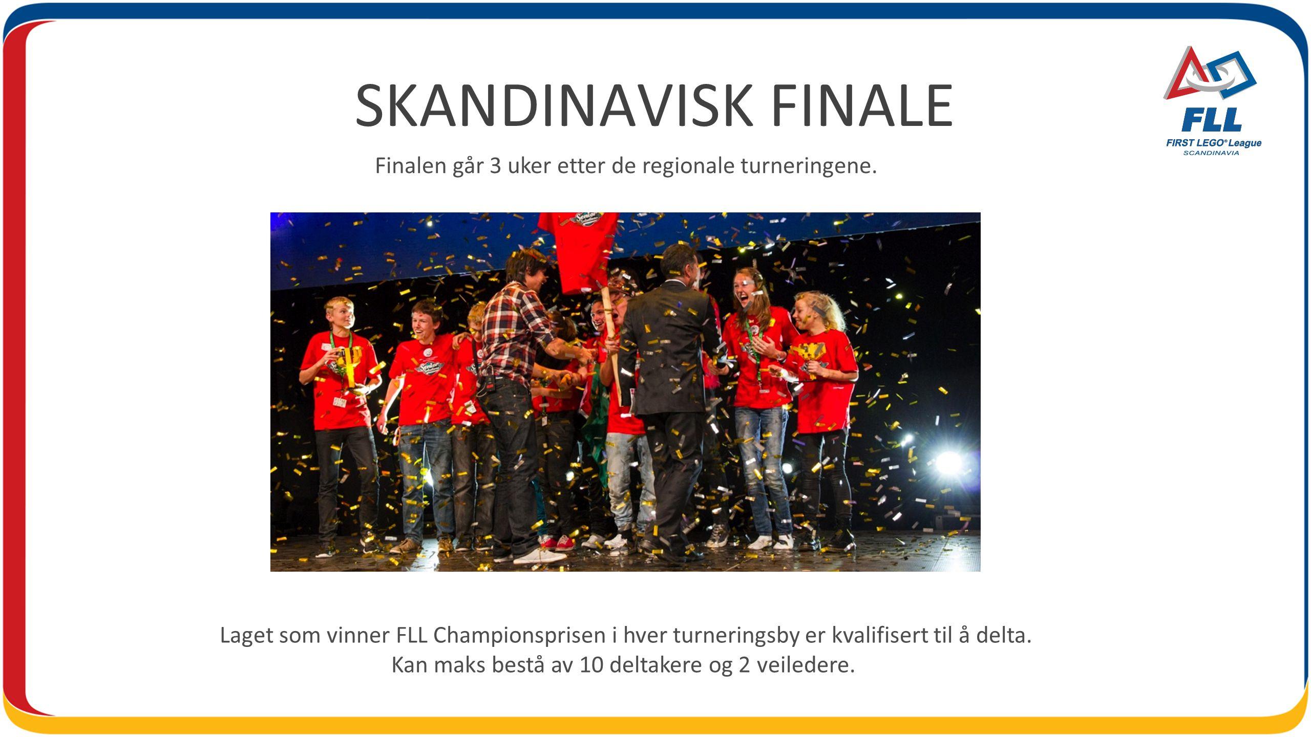 Finalen går 3 uker etter de regionale turneringene.