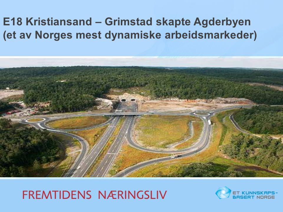 E18 Kristiansand – Grimstad skapte Agderbyen